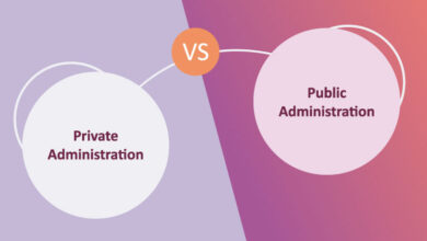 difference between private and public administration and similarities