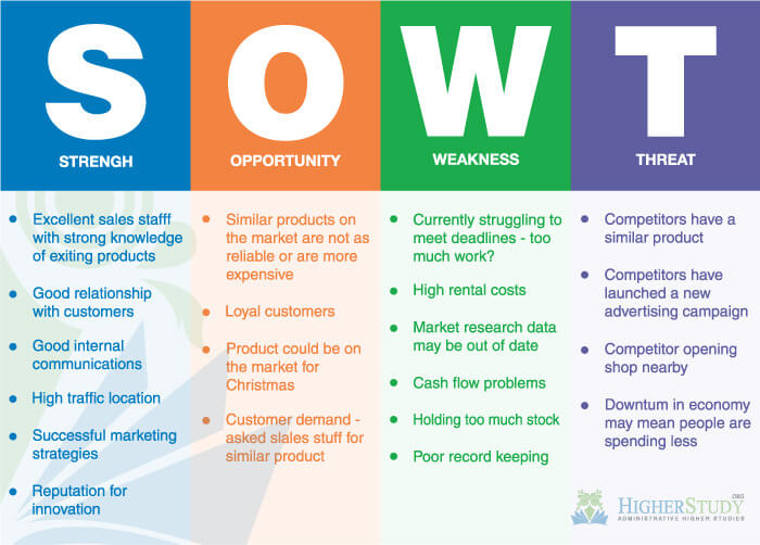 SWOT Analysis Examples For Business Studies