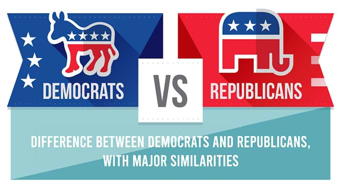 Difference between Democratic and Republican Party